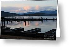 Empty Docks On Priest Lake Greeting Card