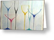 Empty Glasses Greeting Card