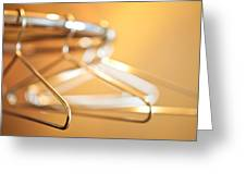 Empty Hangers Greeting Card