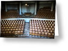 Empty Movie Theater - Urban Exploration Greeting Card