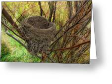 Empty Nest In Autumn Greeting Card