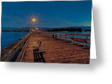 Empty Pier Glow Greeting Card