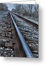 Empty Railroad Tracks Greeting Card
