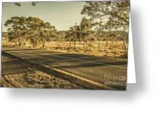 Empty Regional Australia Road Greeting Card