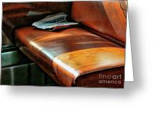 Empty Seat Train To Versailles From Paris.  Greeting Card