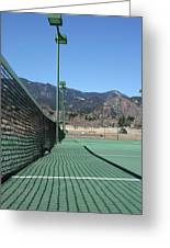 Empty Tennis Courts Greeting Card