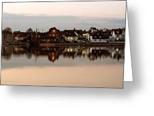 Emsworth At Dusk Greeting Card by Trevor Wintle