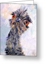 Emu Twister Greeting Card