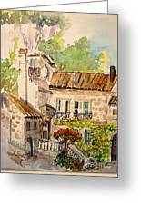 En Plein Air At Moulin De La Roque France Greeting Card