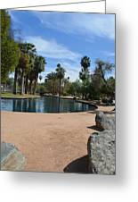 Encanto Park Lagoon Greeting Card