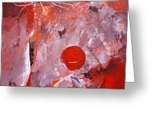 Encased In Red Greeting Card