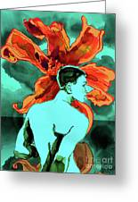 Enchanted Boy With Lilies Greeting Card