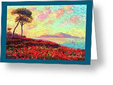 Enchanted By Poppies Greeting Card