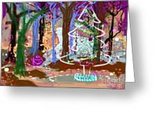 Enchanted Christmas Forest Greeting Card