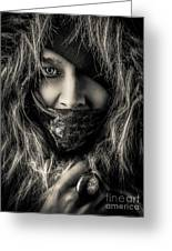 Enchanted Concept Black And White Greeting Card
