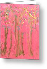 Enchanted Forest - Abstraction Greeting Card