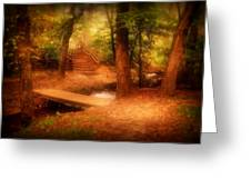 Enchanted Path - Allaire State Park Greeting Card