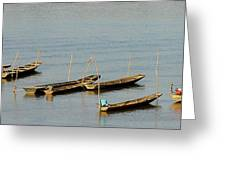 End Of A Days Fishing Greeting Card
