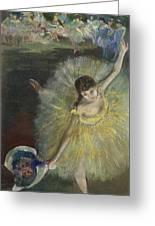 End Of An Arabesque Greeting Card by Edgar Degas