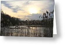 End Of Day At The Lake Greeting Card