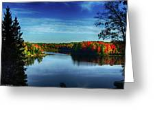End Of The Day At The Lake Greeting Card