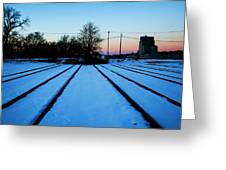 End Of The Tracks Greeting Card