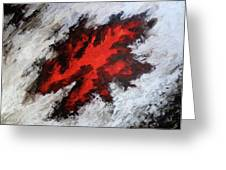 Endeavor Abstract Expressionism Greeting Card