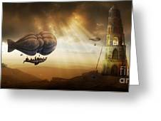 Endless Journey - Steampunk Incredible Adventure Greeting Card