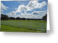 Endless Sky At The Farm Greeting Card