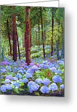 Endless Summer Blue Hydrangeas Greeting Card