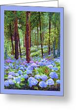 Endless Summer Blue Hydrangeas Greeting Card