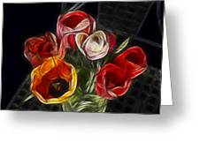 Energetic Tulips Greeting Card