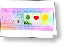 Energize Greeting Card