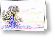 Energy Tree Greeting Card