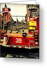 Engine 39 - New York City Fire Truck Greeting Card