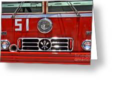 Engine 51 Grill Greeting Card