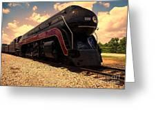 Engine #611 In Ole Town Petersburg Virginia Greeting Card
