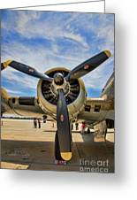 Engine B-17 Greeting Card