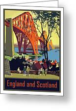 England And Scotland, Bridge Greeting Card