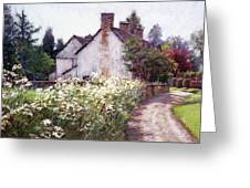 England Cottage Greeting Card