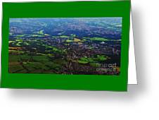 An Aerial Vision Of England Greeting Card