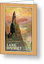 England Lake District Vintage Travel Poster Greeting Card