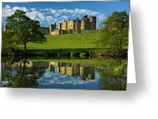 England, Northumberland, Alnwick Castle Greeting Card