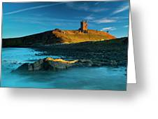 England, Northumberland, Dunstanburgh Castle Greeting Card