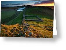 England, Northumberland, Hadrians Wall Greeting Card