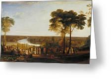 England Richmond Hill On The Prince Regent's Birthday Greeting Card