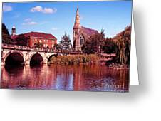 English Bridge Over The Severn At Shrewsbury Greeting Card