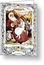 English Christmas Card Greeting Card