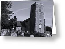 English Churchyard Greeting Card