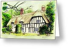 English Cottage In Cambridgshire Greeting Card